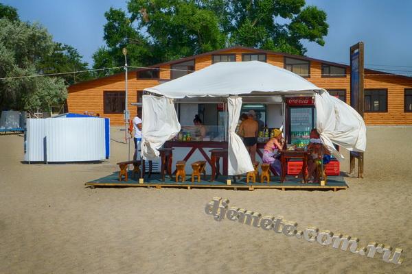 Анапа Центральный пляж летнее кафе